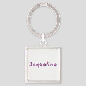 Jaqueline Pink Giraffe Square Keychain