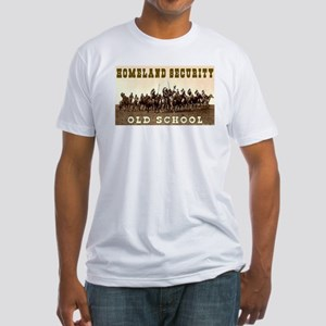 HOMELAND SECURITY - OLD SCHOOL Fitted T-Shirt