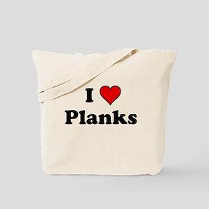 I Heart Planks Tote Bag