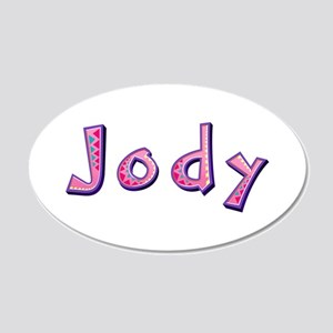 Jody Pink Giraffe 20x12 Oval Wall Decal