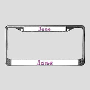 Jane Pink Giraffe License Plate Frame