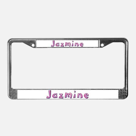 Jazmine Pink Giraffe License Plate Frame
