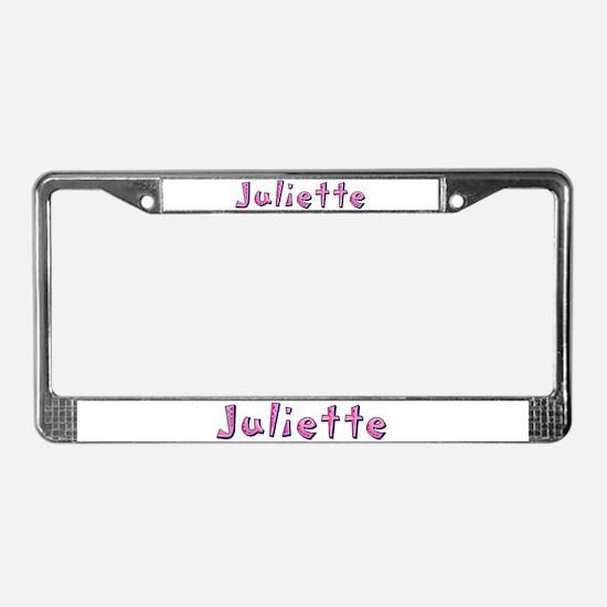 Juliette Pink Giraffe License Plate Frame