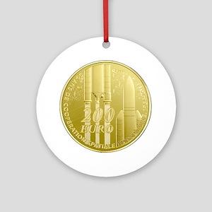 Commerative Coin ESA Logo Ornament (Round)