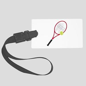 Tennis Racket Luggage Tag