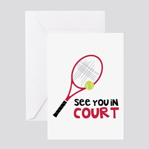 Baby tennis greeting cards cafepress see you in court greeting cards m4hsunfo