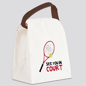 See You In Court Canvas Lunch Bag