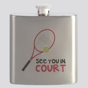 See You In Court Flask