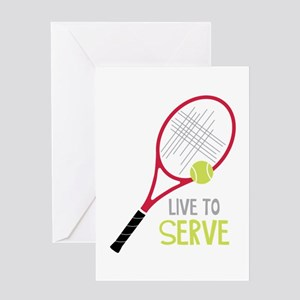 Baby tennis greeting cards cafepress live to serve greeting cards m4hsunfo Choice Image