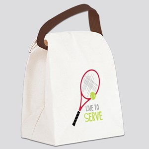 Live To Serve Canvas Lunch Bag