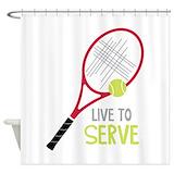 Beach tennis Shower Curtains