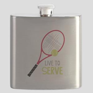 Live To Serve Flask