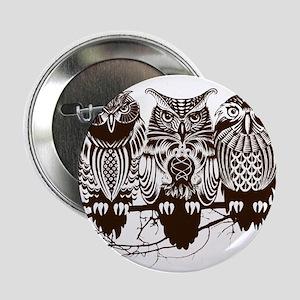 "Three Owls 2.25"" Button"