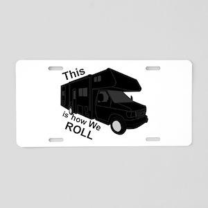 I Love RVing Aluminum License Plate