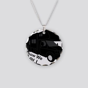 I Love RVing Necklace Circle Charm
