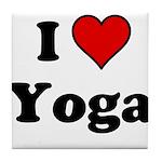 I Heart Yoga Tile Coaster
