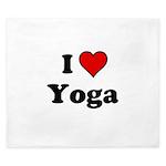 I Heart Yoga King Duvet