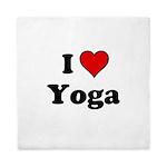 I Heart Yoga Queen Duvet