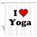 I Heart Yoga Shower Curtain