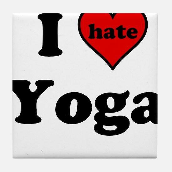 I Heart (hate) Yoga Tile Coaster