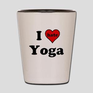I Heart (hate) Yoga Shot Glass