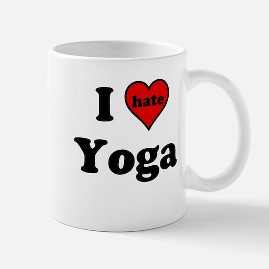 I Heart (hate) Yoga Mugs