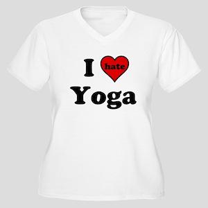 I Heart (hate) Yoga Plus Size T-Shirt