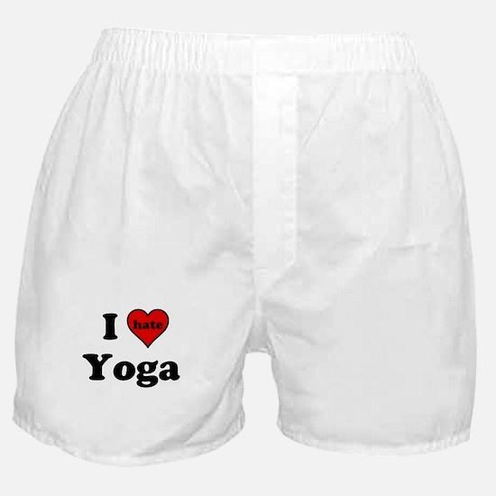 I Heart (hate) Yoga Boxer Shorts