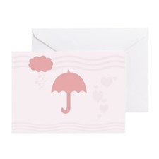 Cute Hearts Rain Greeting Cards (Pk of 10)