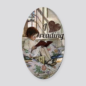I love reading Oval Car Magnet