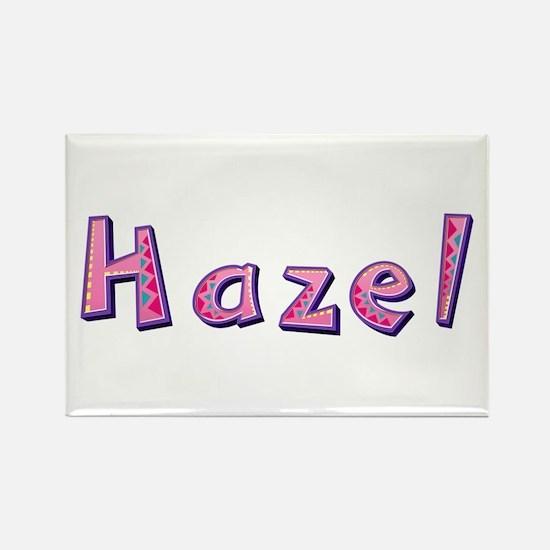 Hazel Pink Giraffe Rectangle Magnet