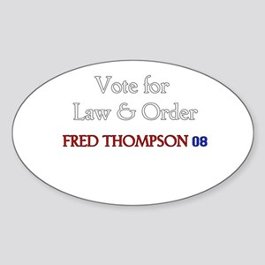 Fred Thompson 2008 Oval Sticker