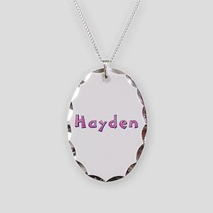Hayden Pink Giraffe Oval Necklace