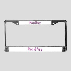 Hadley Pink Giraffe License Plate Frame