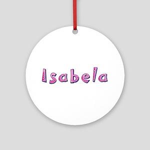 Isabela Pink Giraffe Round Ornament