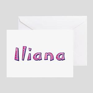 Iliana Pink Giraffe Greeting Card