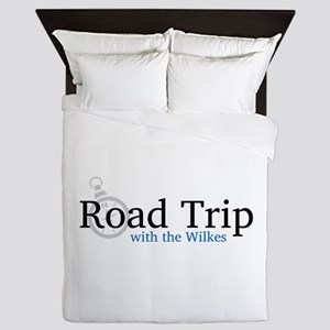 Road Trip with the Wilkes Logo Queen Duvet