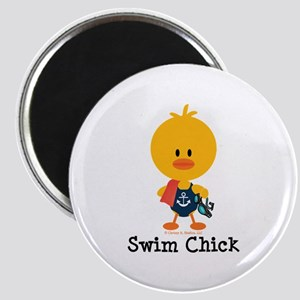 Anchor Swim Chick Magnet