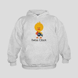 Anchor Swim Chick Kids Hoodie