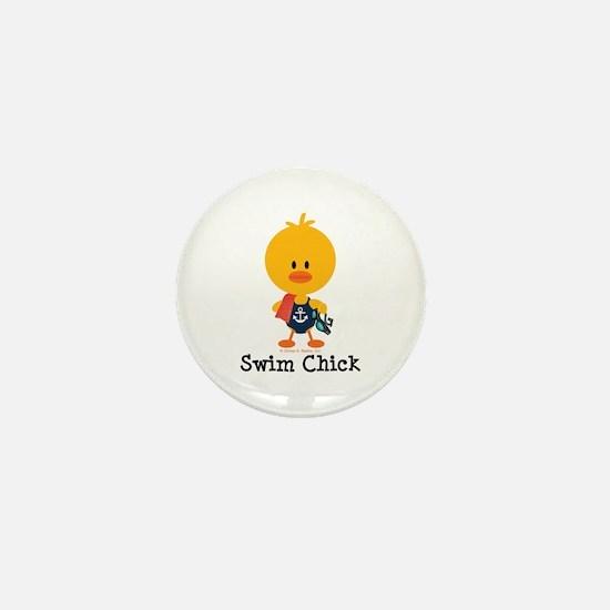 Anchor Swim Chick Mini Button