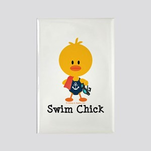 Anchor Swim Chick Rectangle Magnet