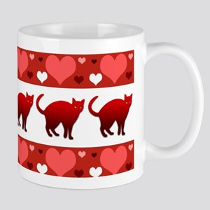 Cats hearts Mugs