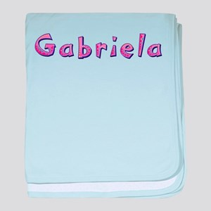 Gabriela Pink Giraffe baby blanket