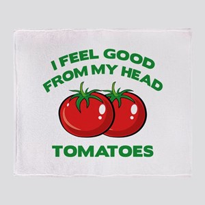 I Feel Good From My Head Tomatoes Stadium Blanket