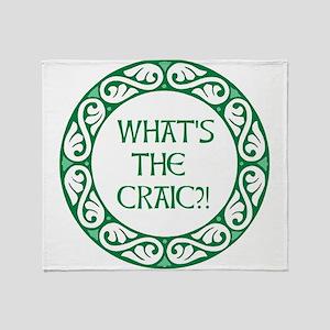 Whats the Craic?! Throw Blanket