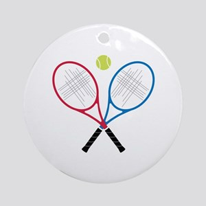 Tennis Rackets Ornament (Round)