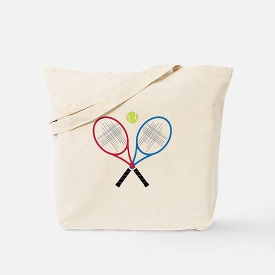 Tennis Rackets Tote Bag