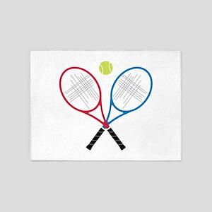 Tennis Rackets 5'x7'Area Rug