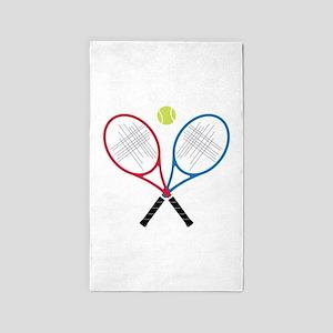 Tennis Rackets 3'x5' Area Rug