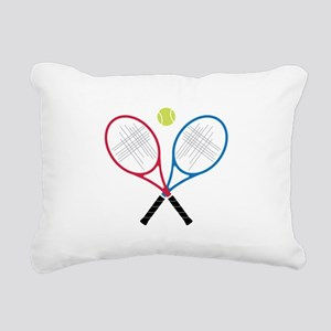 Tennis Rackets Rectangular Canvas Pillow